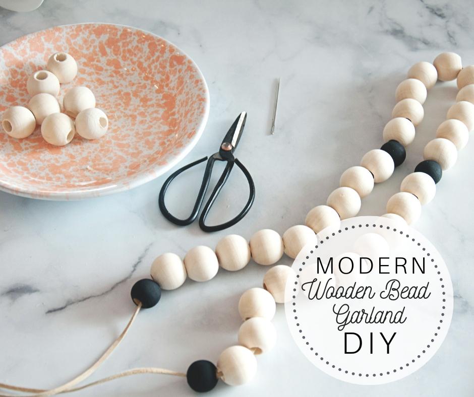Modern Wood Bead DIY