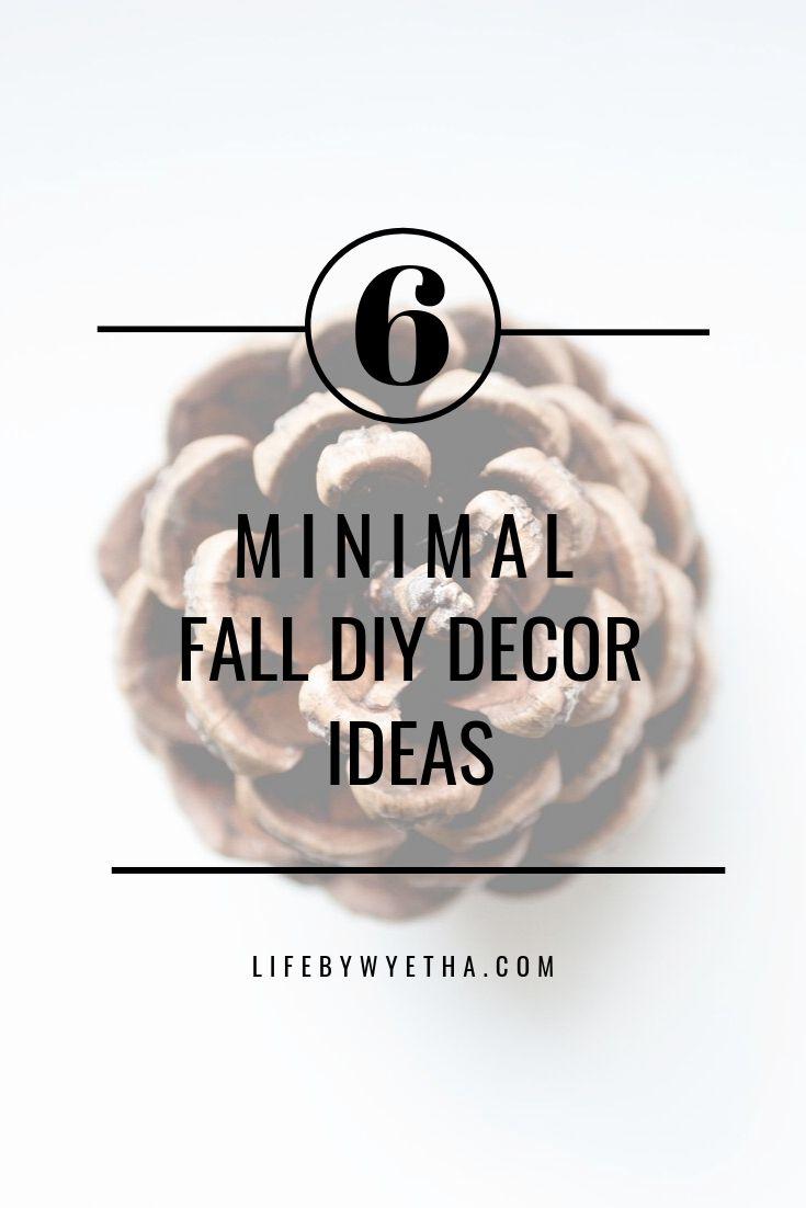 Fall minimal decor ideas