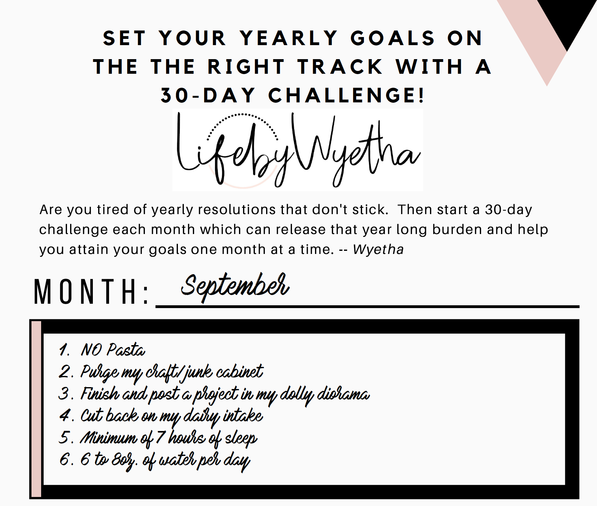 Sept 30-Day Challenge