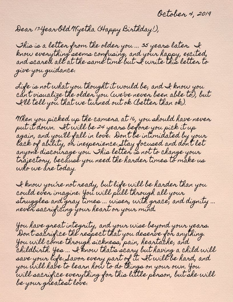 Birthday Letter, Page1