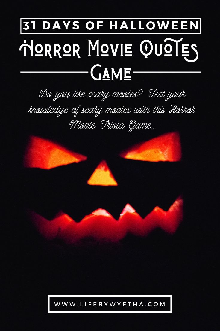 31 Days Of Halloween Horror Movie Quotes Game