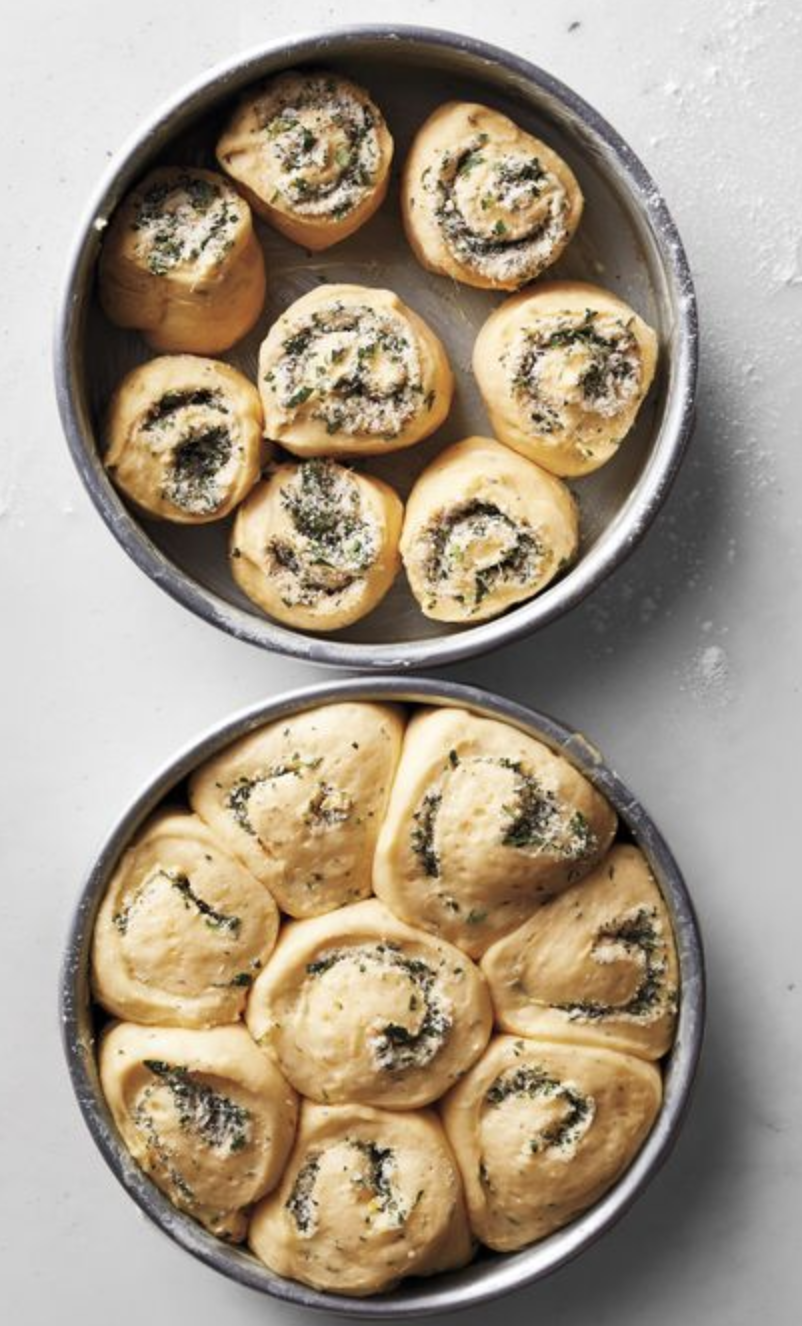 Herb and cheese rolls