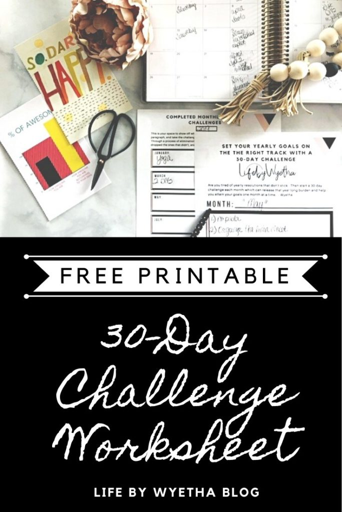 30-Day Challenge Worksheet