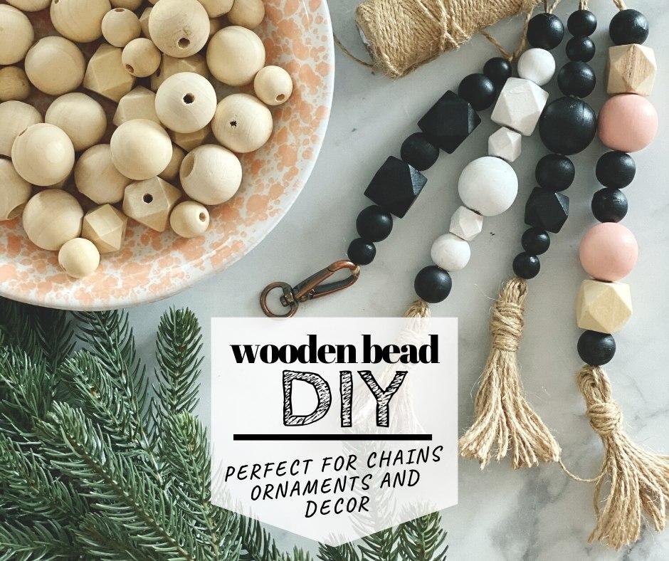 Oh Happy Friday … Wood Bead DIY