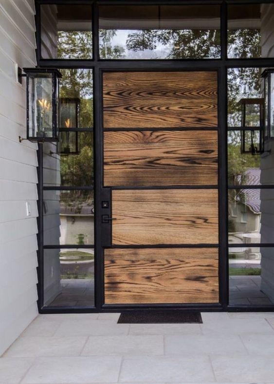 Raw Wood Front Door