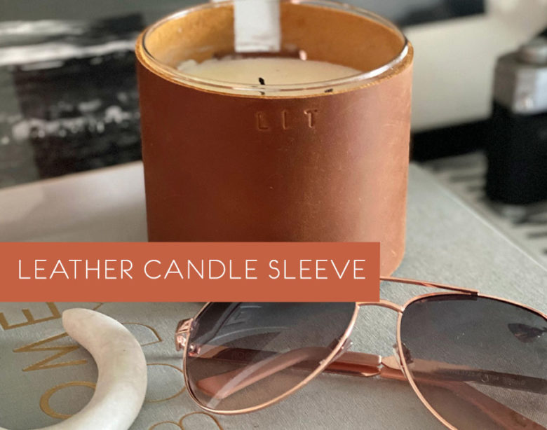 Leather Candle Sleeve