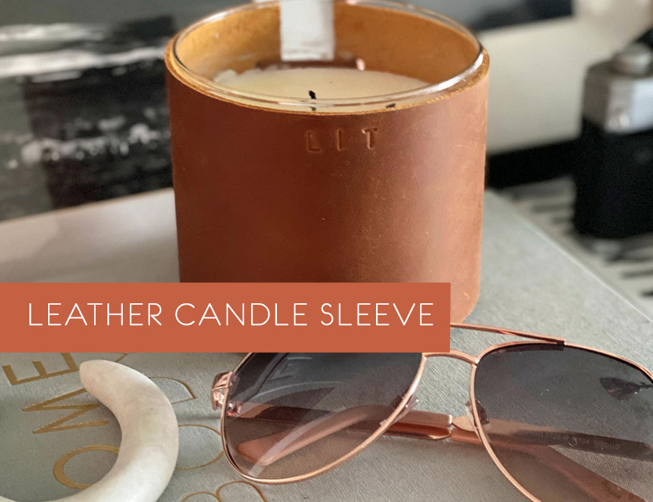 DIY Leather Candle Sleeve, Candle Upcycle