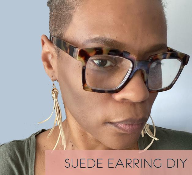 DIY Suede Fringe Earrings