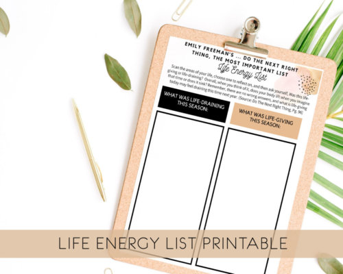 Life Energy List