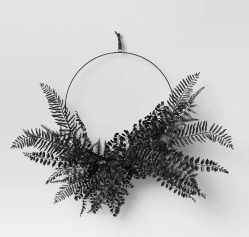 Black Fern Wreath