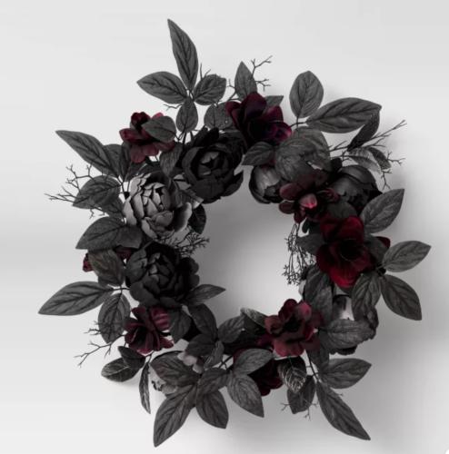 Black Floral Wreath