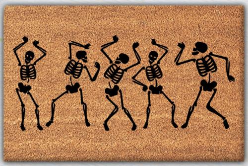 Dancing Skeleton Doormat