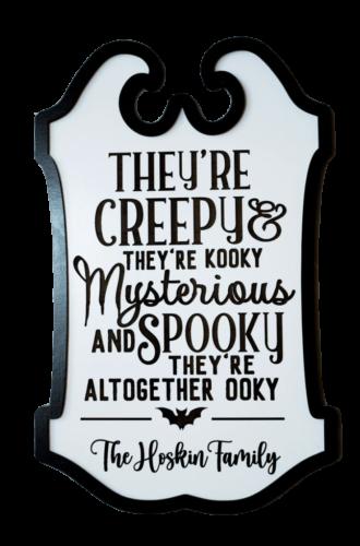 Family Halloween Door Sign