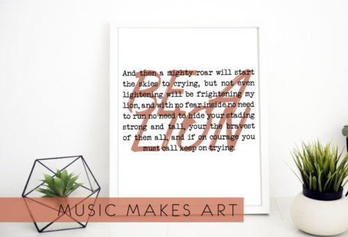 picture frame mock LION lyric