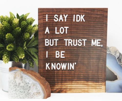 Wooden Letterboard