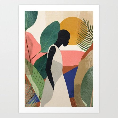 Tropical Girl Print (Society 6)
